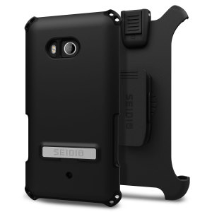 Protect your HTC U11 with this black Dilex Case from Seidio. This case provides shock absorbing protection with two interlocking layers and includes an integrated kickstand and belt-clip holster.