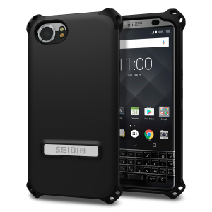 Protect your BlackBerry KEYone with this black Dilex case from Seidio. This case provides shock absorbing protection with two interlocking layers and includes an integrated kickstand for easy media viewing.