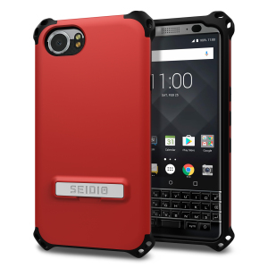 Protect your BlackBerry KEYone with this dark red / grey Dilex case from Seidio. This case provides shock absorbing protection with two interlocking layers and includes an integrated kickstand for easy media viewing.