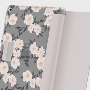 Protection meets finesse in this elegant, stylish floral folio case for iPad 2017 from Incipio. Combining a durable, resilient construction with an intricate design and a stand function to boot, this is the perfect case for working or relaxing.