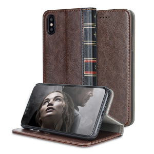 The Olixar X-Tome in brown protects your iPhone X, just as the vintage hardback leather-bound books of old protected their contents. With classic styling, wallet features and magnetic closure, this is one volume you won't want to miss.