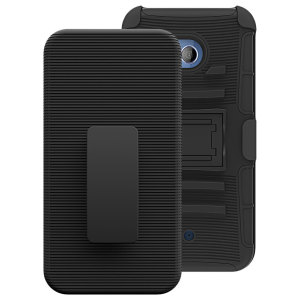Encase your HTC U11 with rugged protection and superb functionality with this rugged case in black from Olixar. Featuring a handy belt clip and a kickstand for viewing media in both portrait and landscape.