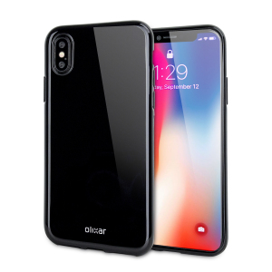 Custom moulded for the iPhone X, this jet black FlexiShield gel case from Olixar provides excellent protection against damage as well as a slimline fit for added convenience.