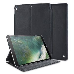 Treat your iPad Pro 10.5 to high-quality handcrafted leather with this ultra-sleek, professional stand case from Noreve. Stand your iPad at three different angles for typing, media viewing and other activities.