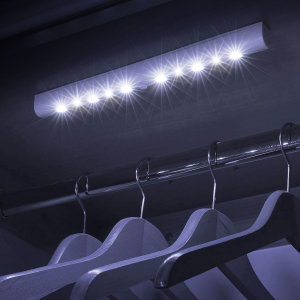 Bring light to the darkest corners of any room, hallway, wardrobe or cupboard with this strip of 10 motion / light sensitive super-bright LED lights from Olixar. Small, lightweight, easy to fit and perfect for anywhere that needs to be illuminated.