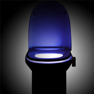 Enhance the look and functionality of your toilet with this ingenious Olixar Motion-Activated Toilet LED Night Light. A helpful children's potty training aid, add coloured mood lighting, keep your bathroom clean or even just to save electricity.