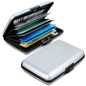 Meet Acardion. Built like a tank yet small and lightweight, with card slots and space for all your cash and RFID protection to help stop wireless card fraud, this is a perfect travel or everyday solution for carrying all your valuables securely. Silver.