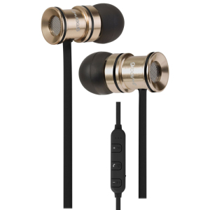 Combining stylish gold metal casings, a comfortable fit with dynamic sound, in-line controls with mic for music and calls, magnetic fastening and wireless bluetooth support, the Bullet Bud Earphones are perfect for music lovers on the go.