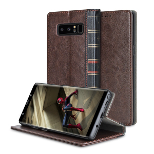 The Olixar XTome in brown protects your Samsung Galaxy Note 8, just as the vintage hardback leather-bound books of old protected their contents. With classic styling and wallet features, this is one volume you won't want to miss.
