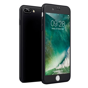 Full front, back and screen protection is as easy as 1-2-3 with the Olixar X-Trio in black. With a slimline shell for the back and front that clips together seamlessly and a tempered glass screen protector, your iPhone 8 Plus is fully encased and safe.