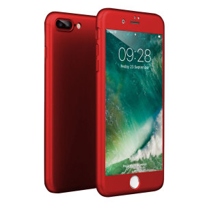 Full front, back and screen protection is as easy as 1-2-3 with the Olixar XTrio in red. With a slimline shell for the back and front that clips together seamlessly and a tempered glass screen protector, your iPhone 8 Plus is fully encased and safe.