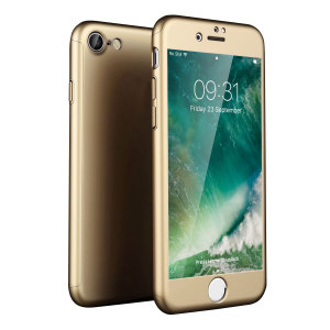 Full front, back and screen protection is as easy as 1-2-3 with the Olixar X-Trio in gold. With a slimline shell for the back and front that clips together seamlessly and a tempered glass screen protector, your iPhone 7S is fully encased and safe.