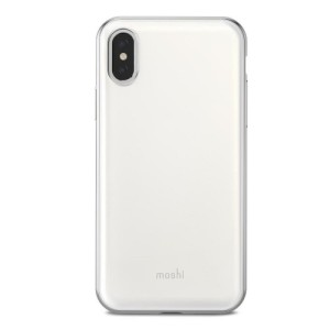 Protect your iPhone X with this stylish Moshi iGlaze hybrid case in pearl white. The iGlaze provides exceptional protection and accentuates your iPhone X's elegance through the use of premium materials.