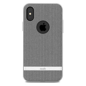 The Vesta case from Moshi adds not only premium military-grade drop protection to your Apple iPhone X, but also a wonderfully idiosyncratic vintage fabric effect complemented by a metallic frame. Form meets function in this elegant, effective cover.