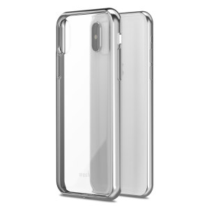 Safeguard your brand new iPhone X from shocks, scrapes and drops while maintaining Apple's signature design with the clear and jet silver Vitros case from Moshi.