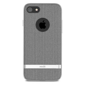 The herringbone grey Vesta case from Moshi adds not only premium military-grade drop protection to your iPhone 8, but also a wonderfully idiosyncratic vintage fabric effect complemented by a metallic frame. Form meets function in this elegant cover.