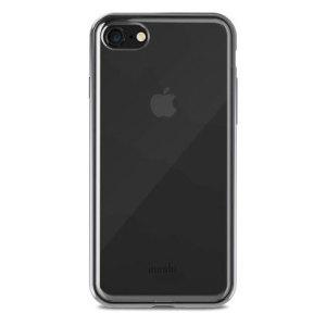Schützen Sie Ihr brandneues iPhone 8 vor Erschütterungen, Kratzern und Stürzen, während Sie das charakteristische Design von Apple mit dem klaren und schwarzen Vitros-Gehäuse von Moshi erhalten.