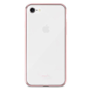 Safeguard your brand new iPhone 8 from shocks, scrapes and drops while maintaining Apple's signature design with the clear and rose gold Vitros case from Moshi.
