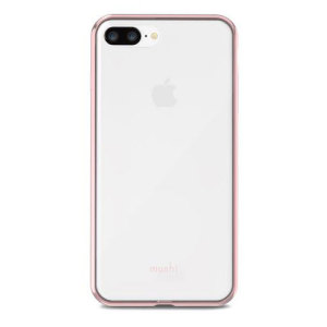 Safeguard your brand new iPhone 8 Plus from shocks, scrapes and drops while maintaining Apple's signature design with the clear and rose gold Vitros case from Moshi.