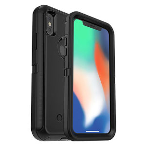 Protect your iPhone X with the toughest and most protective case on the market - the black OtterBox Defender Series. Fully compatible with force touch, you can continue to use all of your iPhone's features whilst keeping it fully protected.