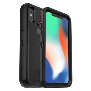 Protégez votre iPhone X avec la coque la plus robuste et la plus résistante sur le marché en coloris noir, la coque OtterBox Defender. Parfaitement compatible avec Force Touch, vous pouvez utiliser votre iPhone X comme vous le faisiez auparavant sans compromettre sa sécurité.