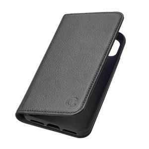 The CitiWallet case for iPhone X in black comes complete with card slots, microfibre interior lining and luxurious genuine leather craftsmanship for a classic, prestige and professional look.
