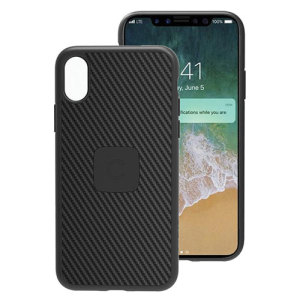 A sleek, elegant case for your iPhone X in a stylish black finish.