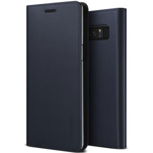 Protect your Samsung Galaxy Note 8 with this precisely designed flip case in navy from VRS Design. Made with genuine premium leather, the VRS Design Diary oozes style and attractiveness.