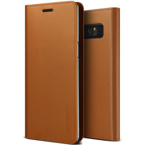 Protect your Samsung Galaxy Note 8 with this precisely designed flip case in brown from VRS Design. Made with genuine premium leather, the VRS Design Diary oozes style and attractiveness.