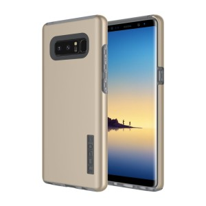 The Incipio DualPro in champagne gold wraps your Samsung Galaxy Note 8 in 2 layers of protection, first of which being a strong silicone core and the second being a colourful hard shell outer cover.