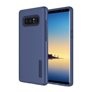 The Incipio DualPro in midnight blue wraps your Samsung Galaxy Note 8 in 2 layers of protection, first of which being a strong silicone core and the second being a colourful hard shell outer cover.