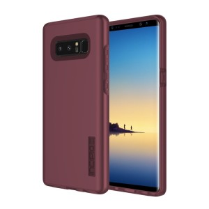 The Incipio DualPro in merlot wine red wraps your Samsung Galaxy Note 8 in 2 layers of protection, first of which being a strong silicone core and the second being a colourful hard shell outer cover.