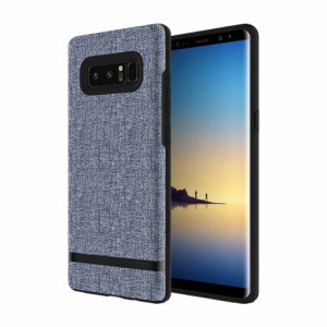 Protect your Samsung Galaxy Note 8 with this slim fitting and soft touch Esquire Carnaby case from Incipio. Featuring a blue denim looking fabric with a contrasting dark TPU frame, this case reveals the real beauty of your new Galaxy Note 8 perfectly.