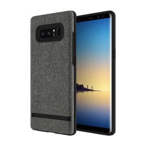 Protect your Samsung Galaxy Note 8 with this slim fitting and soft touch Esquire Carnaby case from Incipio. Featuring a premium grey fabric with a contrasting dark TPU frame, this case reveals the real beauty of your new Galaxy Note 8 perfectly.