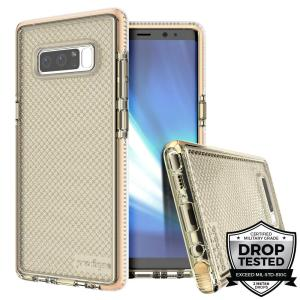 Combining a hard-wearing mesh aesthetic with durable drop protection, this one-piece case from Prodigee in gold for Samsung Galaxy Note 8 maximises protection while minimising unnecessary bulk.