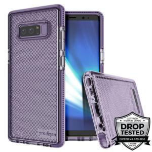 Combining a hard-wearing mesh aesthetic with durable drop protection, this one-piece case from Prodigee in orchid grey for Samsung Galaxy Note 8 maximises protection while minimising unnecessary bulk.