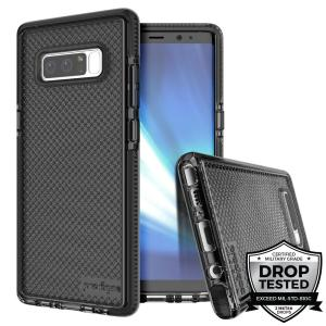 Combining a hard-wearing mesh aesthetic with durable drop protection, this one-piece case from Prodigee in smoke black for Samsung Galaxy Note 8 maximises protection while minimising unnecessary bulk.