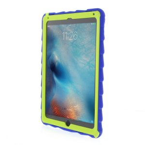 The DropTech Case in blue and lime green from Gumdrop for the iPad Pro 9.7 / Air 2 features reinforced rubber bumpers, allowing you to keep your precious new iPad safe and secure at all times.