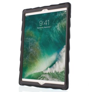 The DropTech Case in black and clear from Gumdrop for the iPad Pro 10.5 features reinforced rubber bumpers, allowing you to keep your precious new iPad safe and secure at all times.