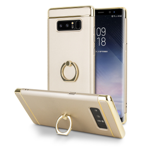 Custom made for the Samsung Galaxy Note 8, this gold XRing case from Olixar provides excellent protection and a handy finger loop to keep your phone in your hand, whether from accidental drops or attempted theft.
