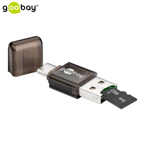 Transfer files, media and other items from your USB-C smartphone to a Micro SD card with this compact, lightweight adapter from Goobay.