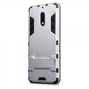 Protege tu Nokia 6 de golpes y arañazos con esta carcasa de doble capa. Compuesto por una sección interior de TPU , un exoesqueleto externo resistente a los impactos y con un soporte de visualización incorporado.