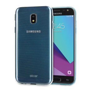 Custom moulded for the Samsung Galaxy J3 2017, this blue Olixar FlexiShield case provides slim fitting and durable protection against damage.