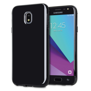 Custom moulded for the Samsung Galaxy J3 2017, this black Olixar FlexiShield case provides slim fitting and durable protection against damage.