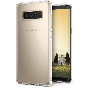 Protect the back and sides of your Samsung Galaxy Note 8 with this incredibly durable clear crystal-backed Fusion Case by Ringke.