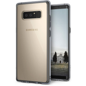 Protect the back and sides of your Samsung Galaxy Note 8 with this incredibly durable smoke black crystal-backed Fusion Case by Ringke.