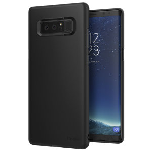 Provide your Samsung Galaxy Note 8 with ultra-thin, tough snap-on protection with this Ringke Slim black polycarbonate case.
