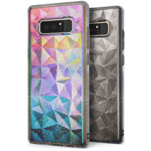 Form meets function in the protective and stylish Air Prism case in grey for Samsung Galaxy Note 8 from Rearth. A sleek geometric aesthetic complements a premium TPU construction to create a perfect case for everyday use.