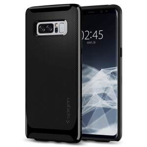 The Spigen Neo Hybrid in shiny black is the new leader in lightweight protective cases. Spigen's new Air Cushion Technology reduces the thickness of the case while providing optimal corner protection for your Samsung Galaxy Note 8.