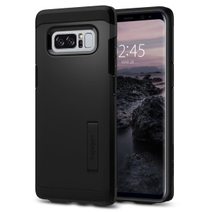 The Spigen Tough Armor in black is the new leader in lightweight protective cases. The new Air Cushion Technology corners reduce the thickness of the case while providing optimal protection for your Samsung Galaxy Note 8.